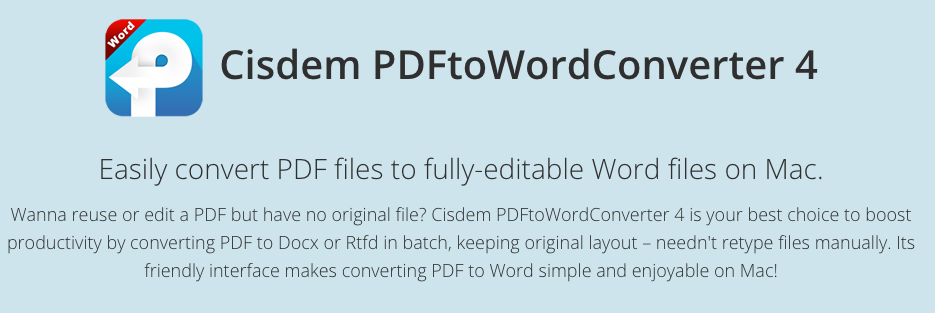 Cisdem PDF to Word Converter